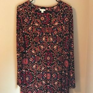 J Jill Paisley Sheath Dress Size Large